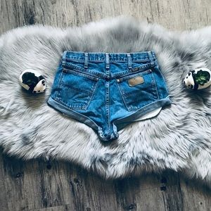 Free People Wrangler Cut Offs